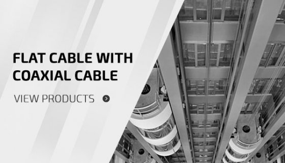 Flat Cable With Coaxial Cables