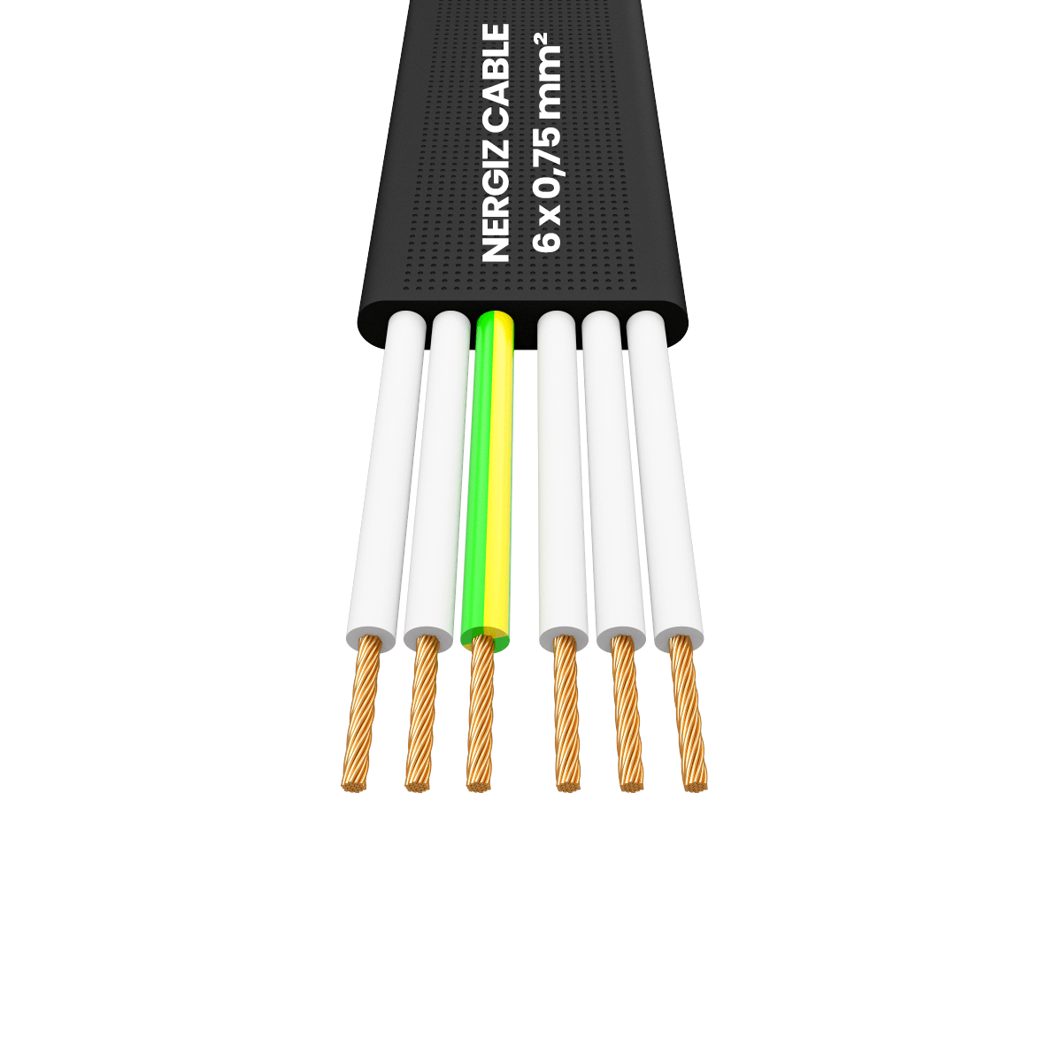 H05VVH6-F 6x0.75 mm² Flat Flexible Cable
